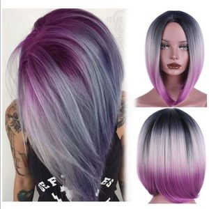 """Other - Jodi 12.5"""" 22"""" Purple/Grey and black Ombré wig"""